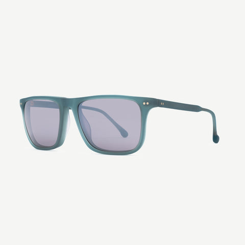 Steven Alan Optical Sunglasses Warren Sunglasses Aqua Rubberized