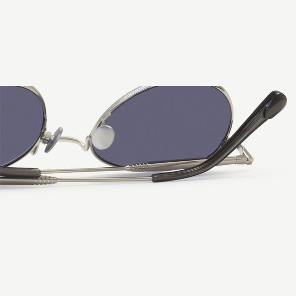 Quincy Sunglasses - Brushed Silver
