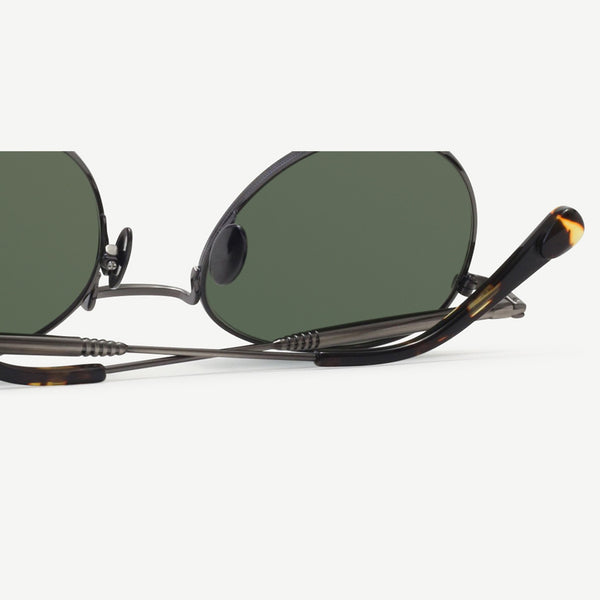 Quincy Sunglasses - Brushed Dark Gunmetal