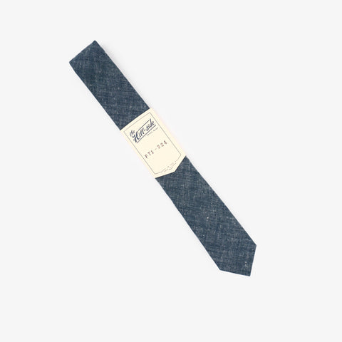 The Hill-Side Pointed Tie Extra Neppy Indigo Chambray