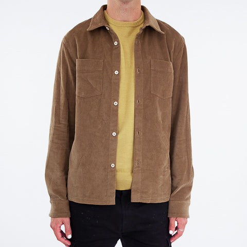 APC Joe Corduroy Overshirt Dark Beige