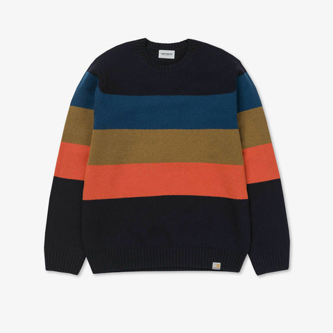 Goldner Sweater - Dark Navy Stripe