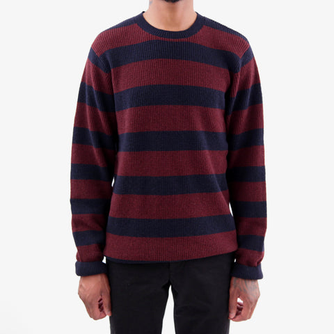 Carhartt WIP Jefferson Striped Sweater Navy Amarone