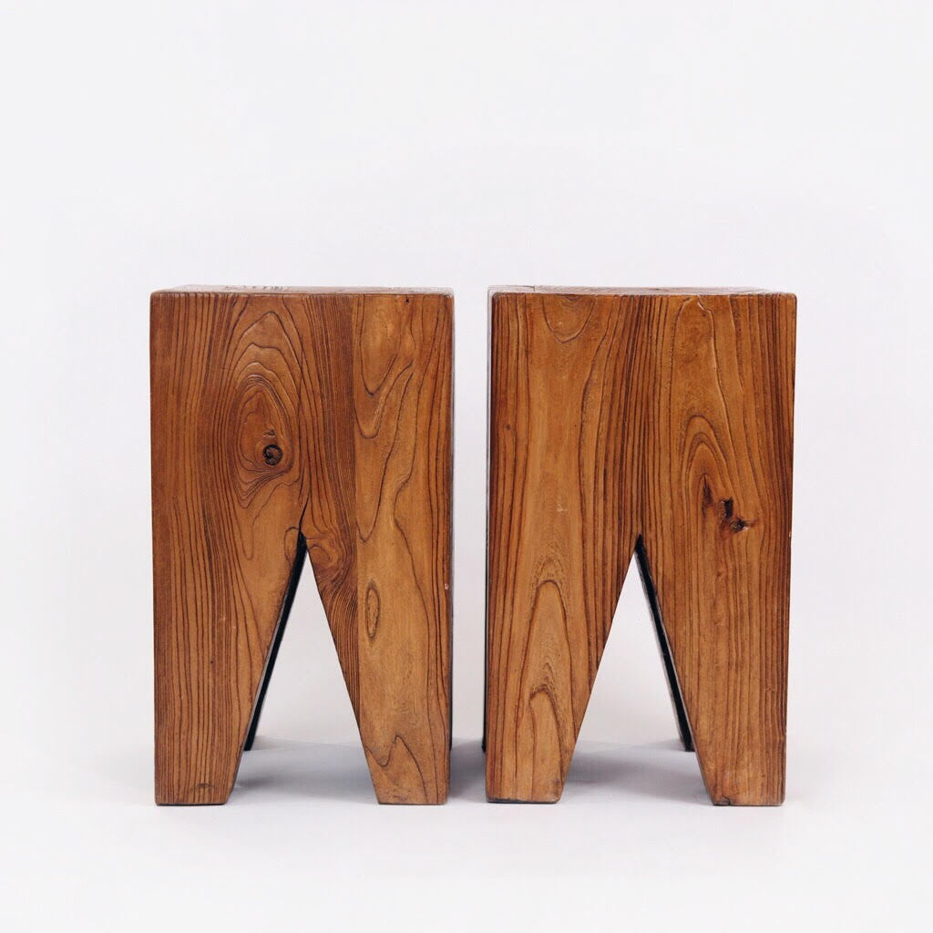 Antique Solid Elm Side Tables Armitage Mcmillan