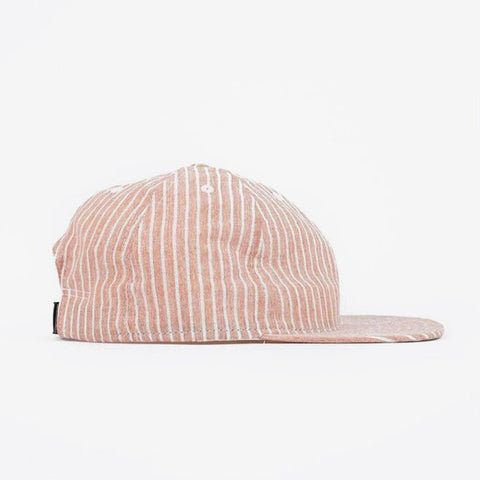 Hickory Stripe Ball Cap - Rust