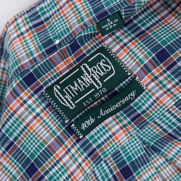 The Classic Button Down - Green Archive Madras