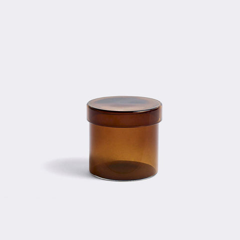 HAY glass container small brown