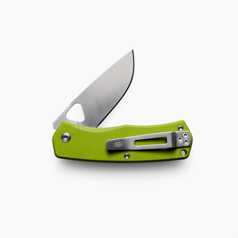 The James Brand Folsom Knife Moss Green Stainless
