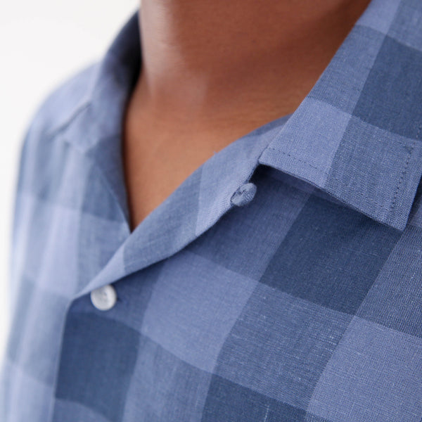 Cesar Vintage Shirt - Blue Plaid