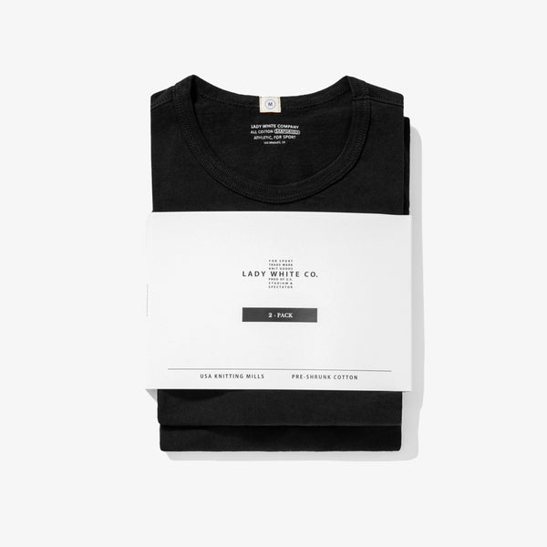 Two Pack Tee Shirts - Black
