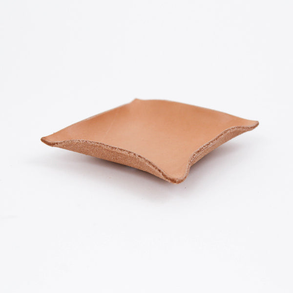 Hand Shaped Leather Tray - Small