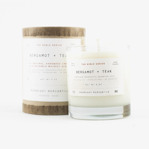 Manready Mercantile Noble Series Soy Candle Bergamot + Teak