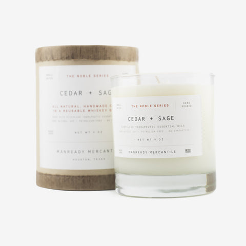 Manready Mercantile Noble Series Soy Candle Cedar + Sage