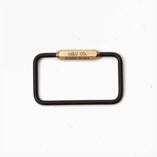 Rectangle Key Ring - Matte Black