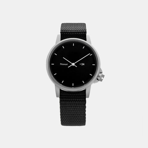 Miansai M24 II Japanese Watch - Black / Black Nylon