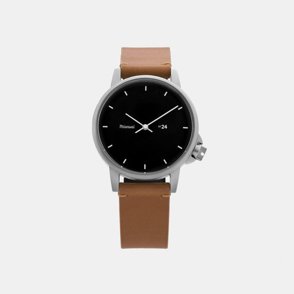 M24 II Watch - Black / Tan Leather