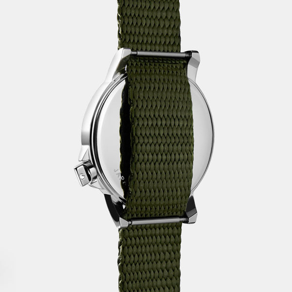 M24 II Watch - White / Hunter Nylon