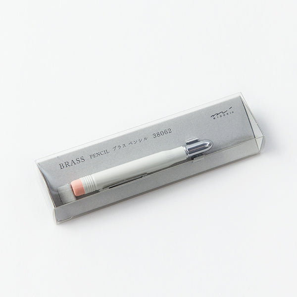 Brass Pencil - White