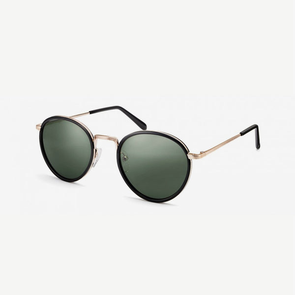 Bupkes Sunglasses - Black / Gold G-15 Lenses