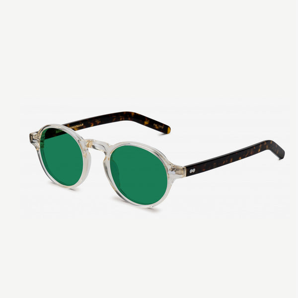 Glick Sunglasses - Tortoise  / Caliber Green Lenses