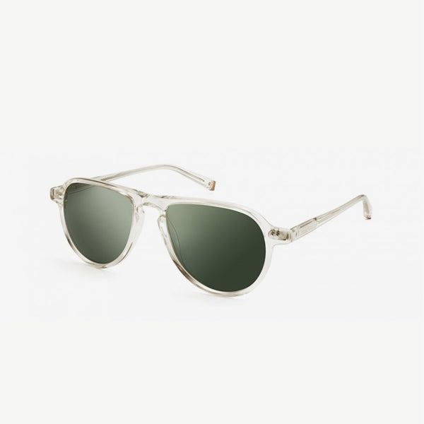 Jasper Sunglasses - Flesh / Green Lenses