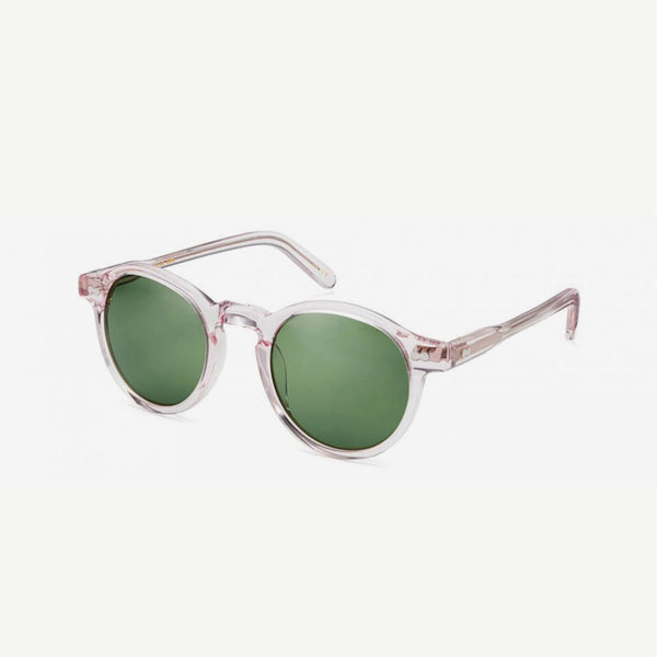 Miltzen Sunglasses - Blush / Green Lenses
