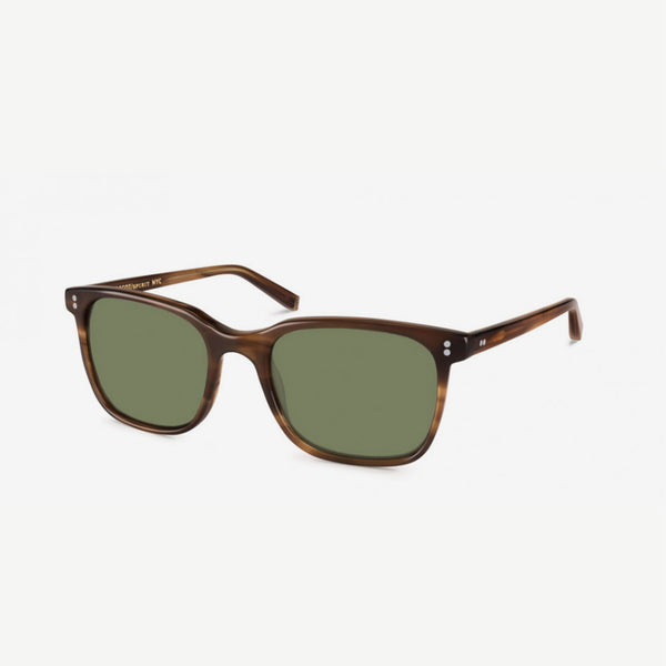 Travis Sunglasses - Dark Blonde  / Green Lenses