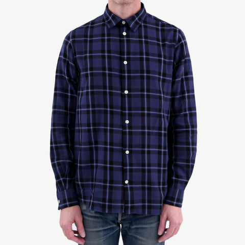 Norse Projects Hans Classic Check Shirt Dark Navy