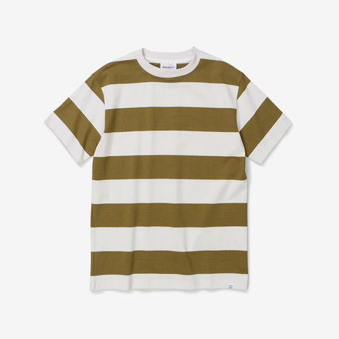Norse Projects Johannes Wide Stripe Tee Warm Brass