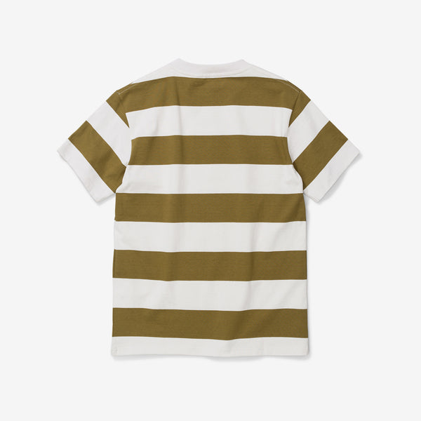 Johannes Wide Stripe Tee - Warm Brass