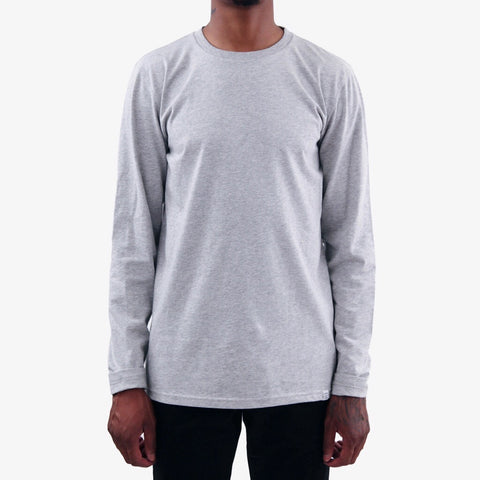 Norse Projects Niels Standard Long sleeve Tee Light Grey Melange