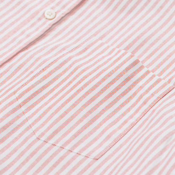 Theo S/S Oxford - Burned Red Stripe