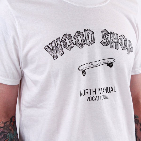 Wood shop Tee - White