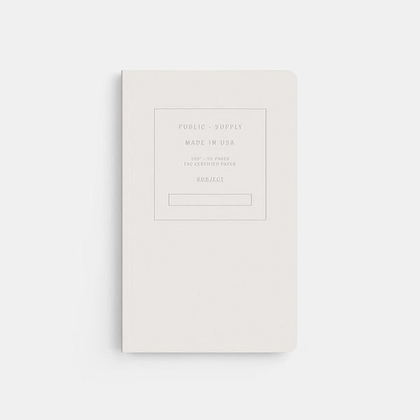 "5"" x 8"" Embossed Ruled Notebook - White"