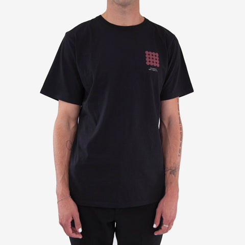 Saturdays Density Chest Tee Black