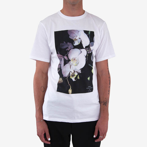 Saturdays NYC White Orchid Tee Shirt