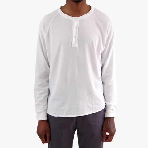 Save Khaki Supima Cotton Henley Tee Shirt White