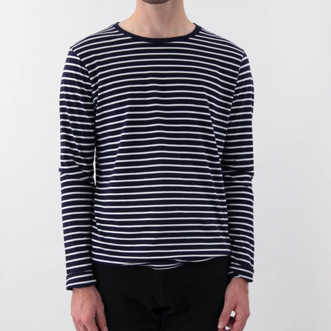 Save Khaki L/S Marine Stripe Crew Tee Navy White