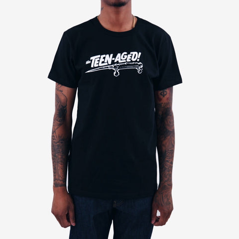Thee Teen-Aged logo graphic tee black