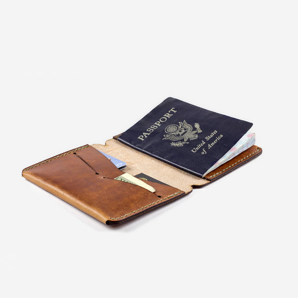 Passport Wallet - Tobacco Dublin