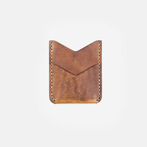 Winter Session Slash Wallet Tan Tobacco