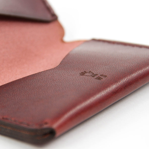 Triple Wallet - Burgundy Dublin