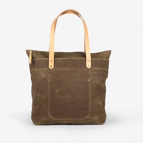 Winter Session Zip-top Tote Field Tan Waxed