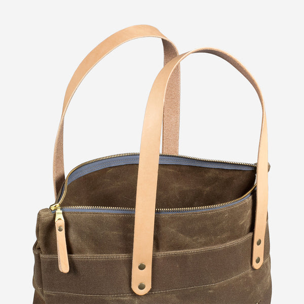 Zip-Top Tote - Field Tan