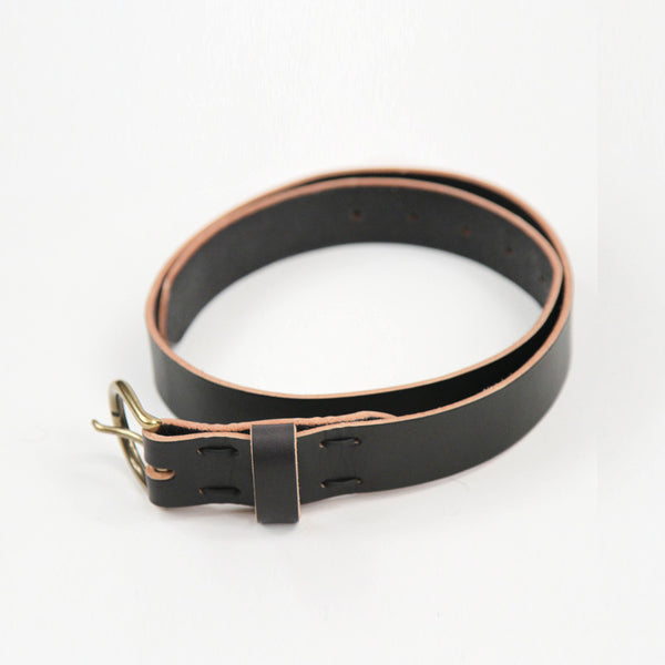 Leather Lace Belt - Black