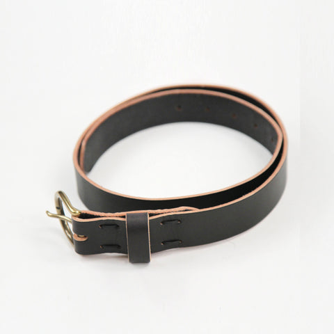 Winter Session Leather Lace Belt Black