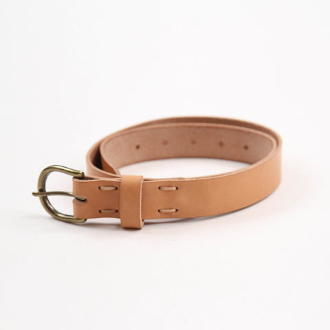 Winter Session Leather Lace Belt Natural