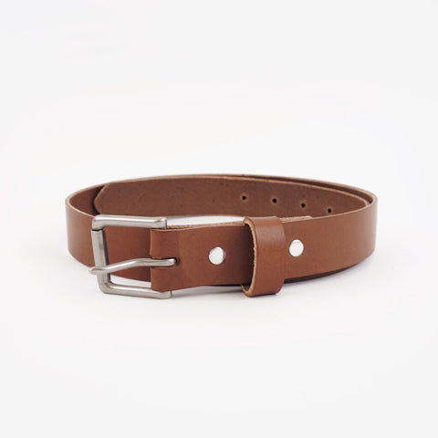 Winter Session leather belt brown