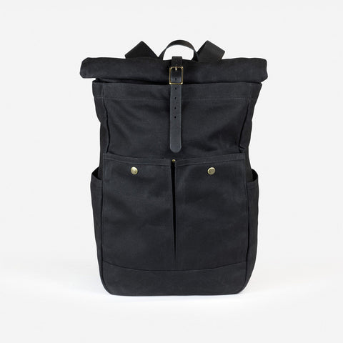 Winter Session Roll-top backpack black