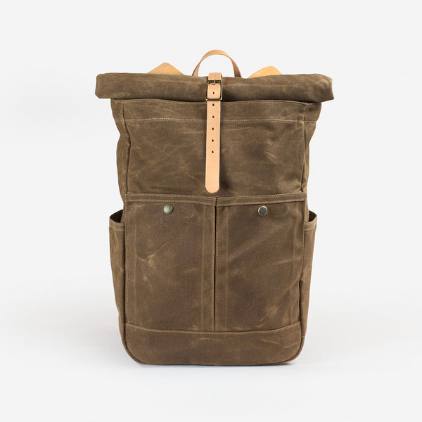Roll-top Pack - Field Tan Waxed